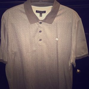 🆕 Banana republic grey arrow knit polo